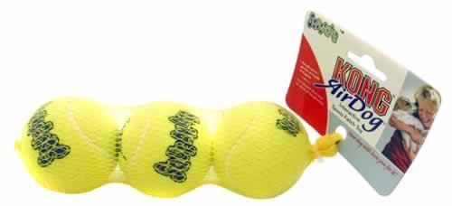 Kong Air Squeaker Tennisboll 3-pack M