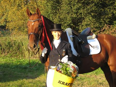 Tävlingshästar och dressyrträning