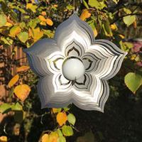 Vindspel Flower vit 35 mm kula