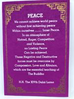 Peace, Dalai Lama kort