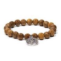 Armband mala av wenge trä + Tree of Life berlock