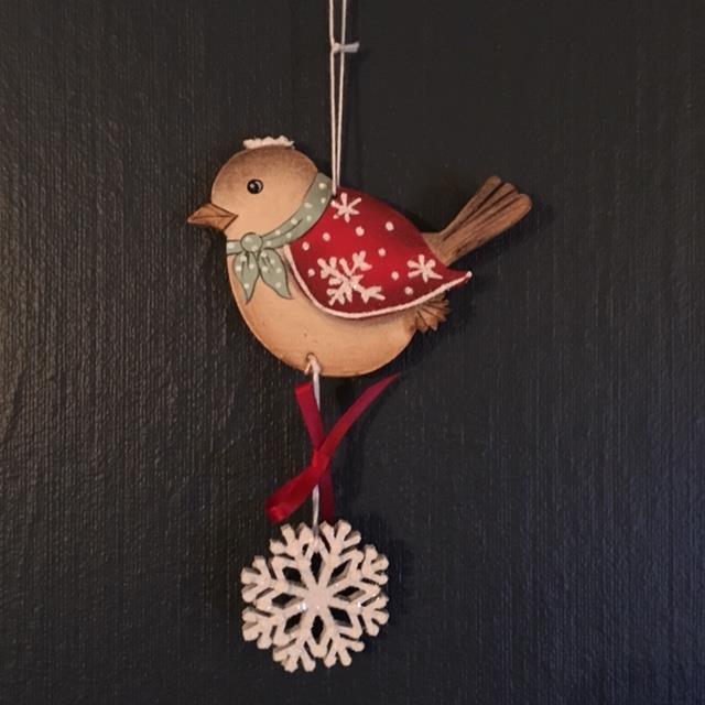 Fugl med snøstjerne