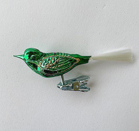 Liten fugl, grønn