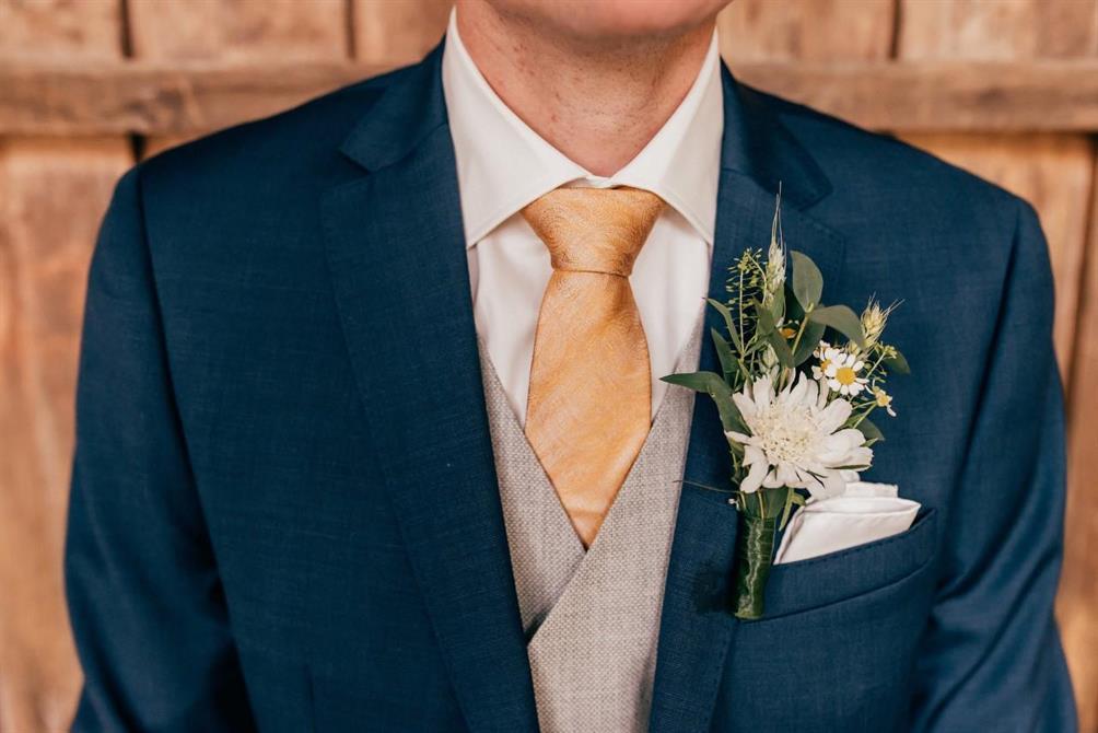 Corsage på John. foto Anna Maria Liljestrand