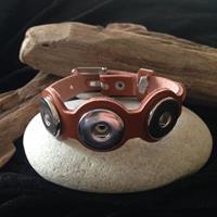 Armband i äkta läder brunt