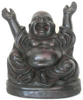 Skrattande Buddha 19 cm Resin