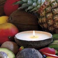 Kokosskål med kokkos duftlys
