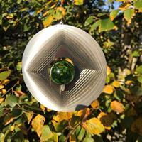 Vindspel Geometri grön 35 mm kula
