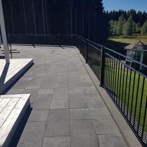 Mosaiken a Släta Plattor 350x350x50mm Naturgrå