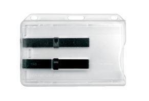 Transparent korthållare