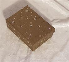 Guld kartong 12,5x9x4cm