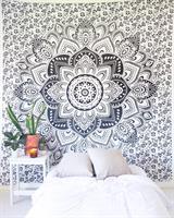 Mandala Dubbel Vit-svart-grå