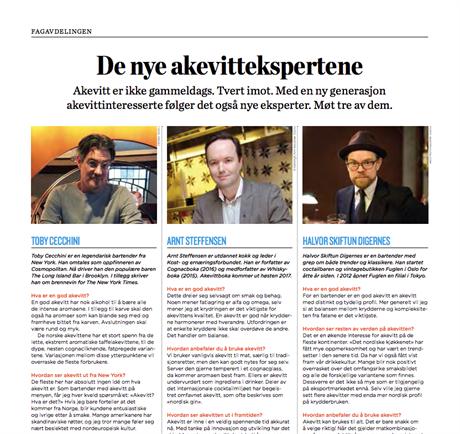 Intervju av forfatter Arnt Steffensen i Vinbladet