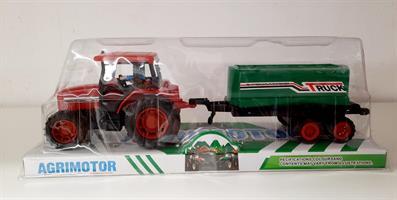 Traktor med släp 35x13cm
