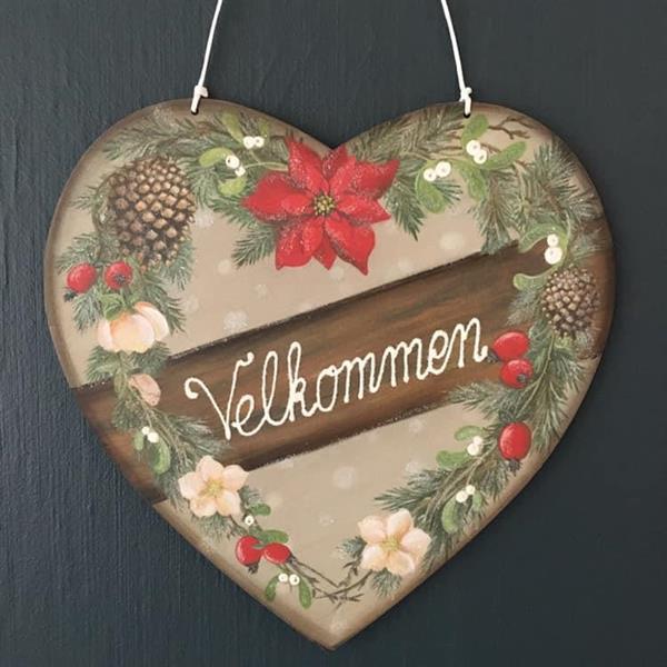 """Hjerte med """"Velkommen"""""""