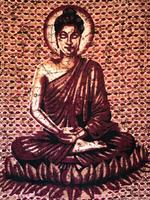 Buddha dubbel mörkröd/brun