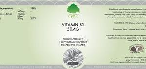 B2 Riboflavin 50 mg