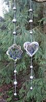 Girlang silverklot och hjärta