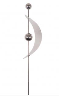Silverklot med dekor Segel