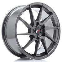 JR Wheels JR36 18x8 ET20-52 5H BLANK Hyper Gray