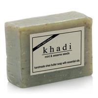 Natural Sheabutter soap Mint & Sesam seed 100 gr