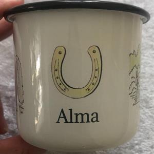 Emaljmugg Maja med namn