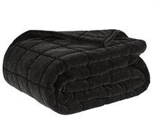 POSH svart sängöverkast i sammet