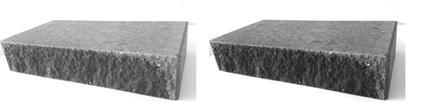 Moskaiken Blocksteg Slät & Knäckt kant 700x350x140mm Grafit