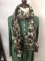 kamouflage mönstrad scarf ifrån IB Laursen.