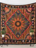 Mandala Dubbel Sol/Måne Svart-röd-gul