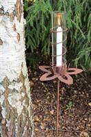 Lotusljusstake med avtagbar pinne