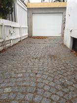 Murpusset Leca garasje på plass før vinteren kommer