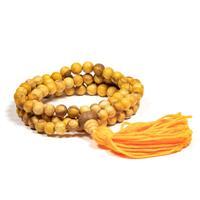 Mala halsband Palo Santo med Guru-pärla