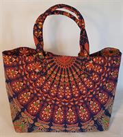 Väska Påfågel blå orange