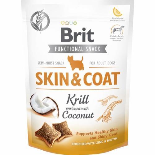 Brit care functional snack skin+coat Krill