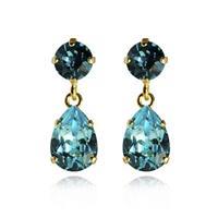 Mini Drop Earrings / Light Turquoise