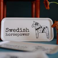 Bricka från Erika Tubbin Swedish horsepower