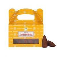 Backflow rökelsekoner Sandalwood 24st/pkt