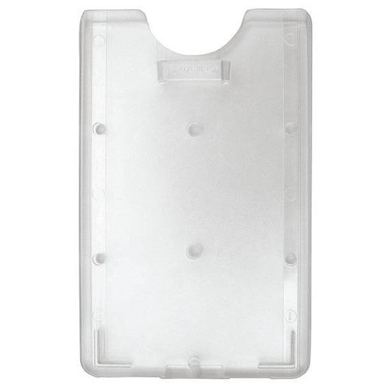 Transparent vertikal korthållare