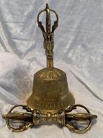 Tibetansk klocka 21x11 cm inkl Dorje 16 cm