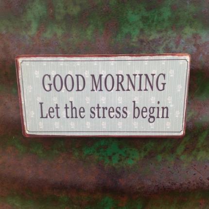 Magnet Good morning let the stress begin