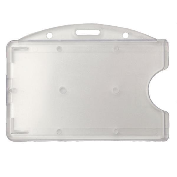 Transparent horisontell korthållare