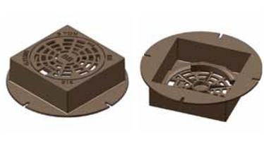 Lättbetäckning sil 300 Fyrkantig  med låsarmar (utan skruv)