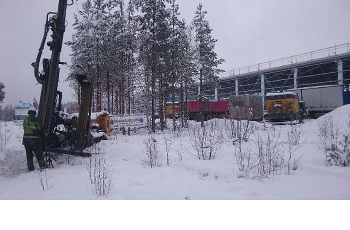 Energiborrning åt Hallströms verkstäder i Åskorset, 2016