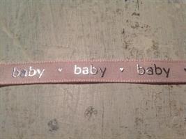Babyband i rosa.
