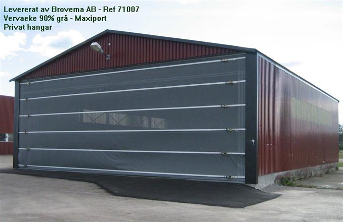 Vervaeke Maxiport - Vindnät grått 90% - privat hangar