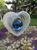 Modell Kombihjärta S blå