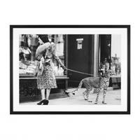 Phyllis Gordon with Cheetah