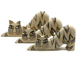Bali - Set 3 katter guld/natur (12 pack)