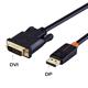 DVI - Displayport Kabel, 2m